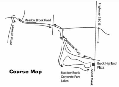 Meadow Brook Run Course Map
